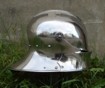 German sallet, raised form one piece of mild steel. This helmet have been case hardened and is now verysturdy.